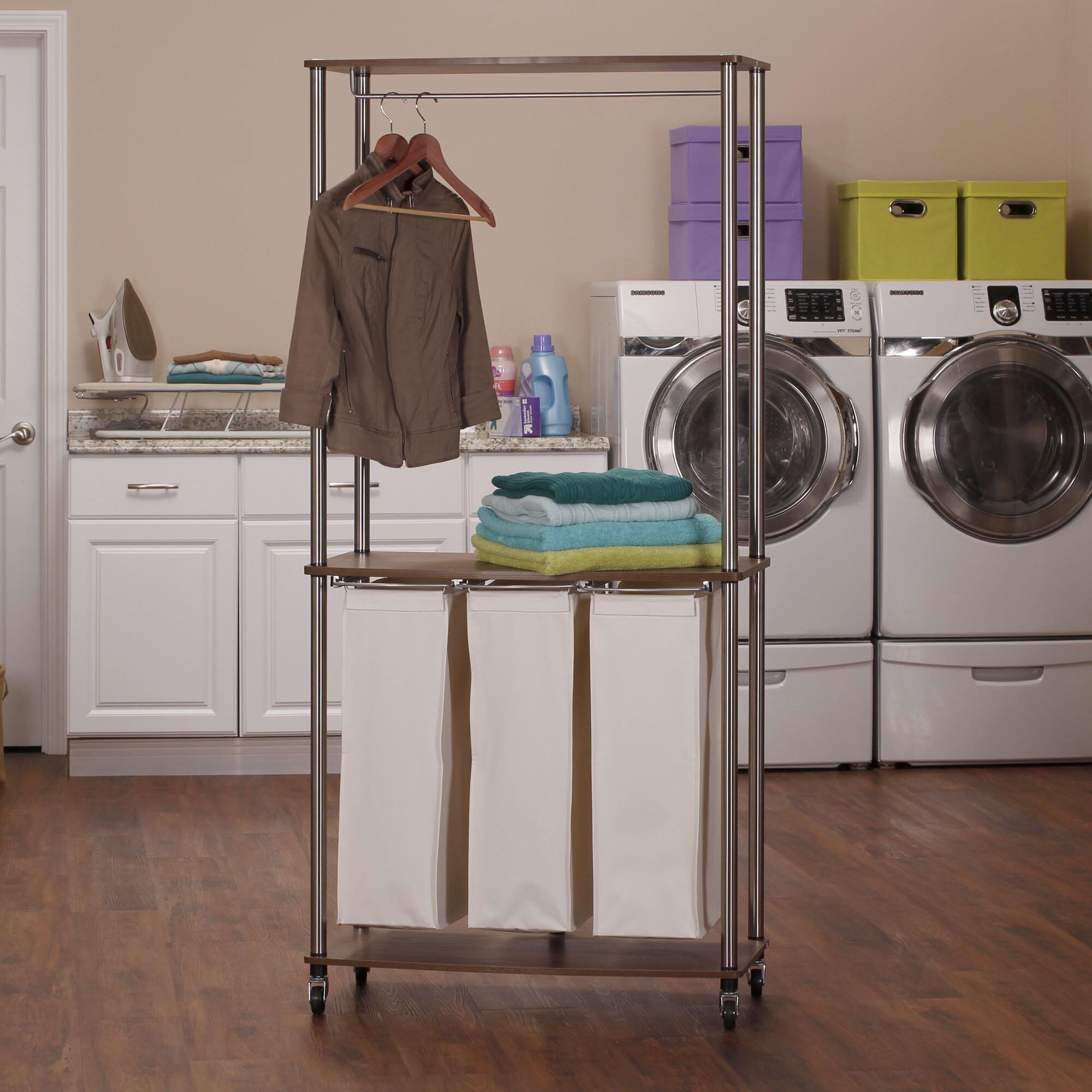 - Rebrilliant 3-Bag Rolling Laundry Center Sorter & Reviews Wayfair
