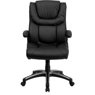 Symple Stuff Wooding Leather Executive Chair