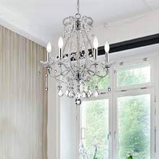 Carbon 5-Light Chandelier