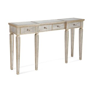 Roehl Mirrored Console Table With Drawers