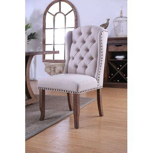 Coshocton Wingback Upholstered Dining Chair (Set of 2) Gracie Oaks