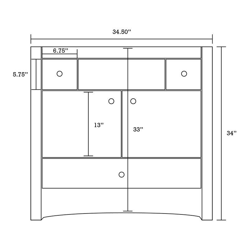 Red Barrel Studio Ena Transitional Floor Mount 35 5 Single Bathroom Vanity Set Wayfair