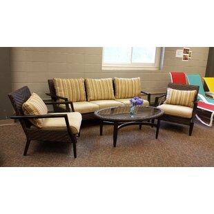 Favor 4 Piece Rattan Sofa Set with Cushions