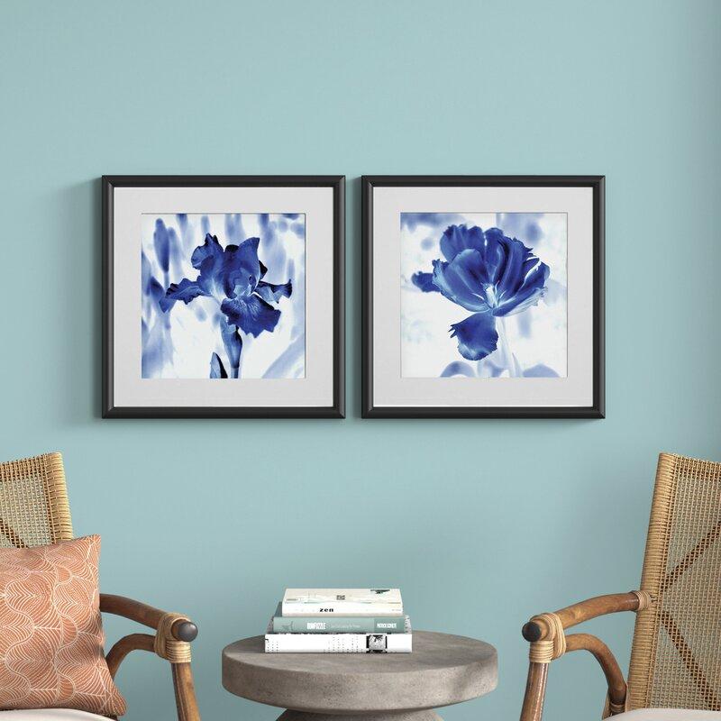 Blue Ice Iris 2 Piece Picture Frame Set Print Set On Paper Reviews Joss Main