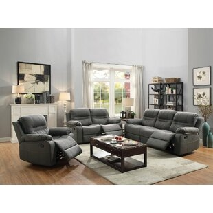Summerall Reclining Manual 3 Piece Living Room Set