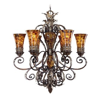 Metropolitan by Minka Salamanca 6-Light Shaded Chandelier