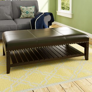 Hirschman Upholstered Ottoman by Three Posts