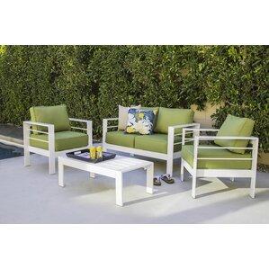 Moderna 4 Piece Deep Seating Group With Sunbrella Cushion Part 41