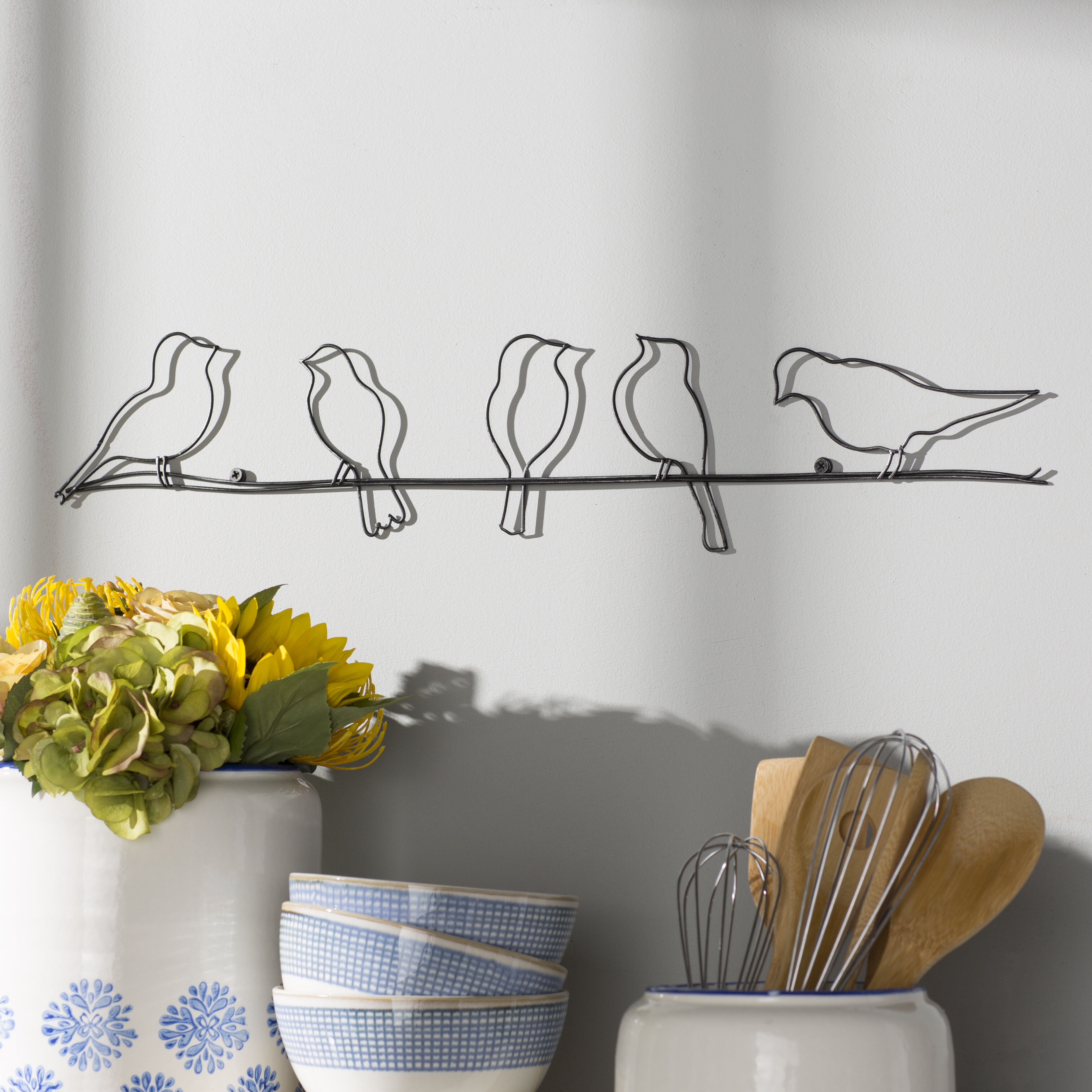 August Grove Rioux Birds On A Wire Wall Décor & Reviews | Wayfair