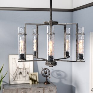 Top Wetumka 5-Light Shaded Chandelier By Trent Austin Design