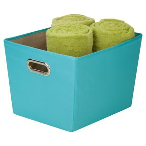 lacie polyester and metal storage bin
