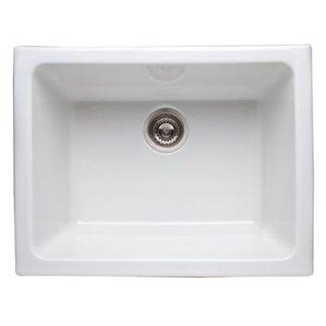 Rohl Single Bowl Undermount Fireclay Kitchen Sink