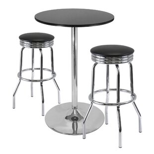 Clarksburg 3 Piece Pub Table Set Red Barrel Studio