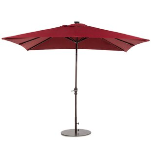 7' x 9' Rectangular Lighted Umbrella by Abba Patio