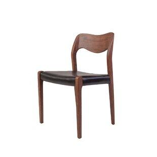 Stilnovo Pobler Genuine Leather Upholstered Dining Chair