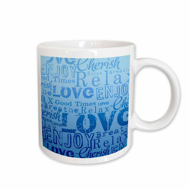 East Urban Home Relax And Enjoy Aqua Word Art Coffee Mug Wayfair