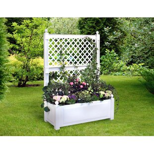 Plastic Planter Box With Trellis By KHW