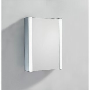 Review Burinskiy 50 X 50cm Surface Mounted Mirror Cabinet With LED Lightning