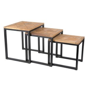 Alegra Reclaimed Teak 3 Piece Nest Tables by Bayou Breeze