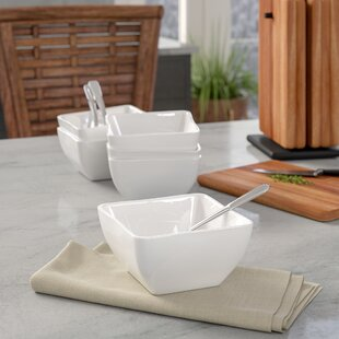 Lancashire Contemporary Square Soup Bowl (Set of 6)