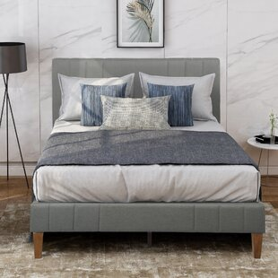 Gaytes Tufted Upholstered Low Profile Sleigh Bed