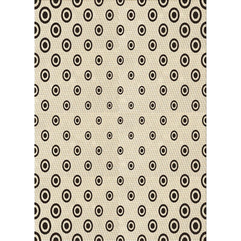 East Urban Home Polka Dots Wool Brown Area Rug Wayfair