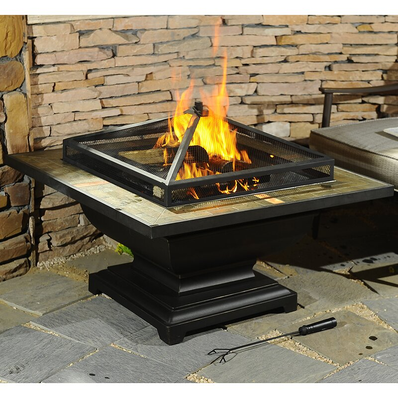 Trent Steel Wood Burning Fire Pit Table