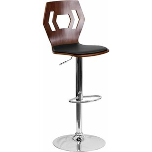 Compare Crotty Mid Back Adjustable Height Swivel Bar Stool by George Oliver