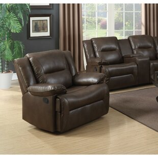 Mendell Contemporary Style Leather Glider Recliner