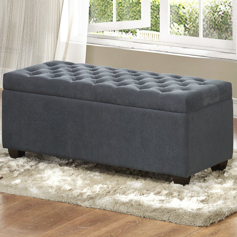 Gray Storage Bench Simple Virgil Upholstered Storage Bench Reviews Joss Main