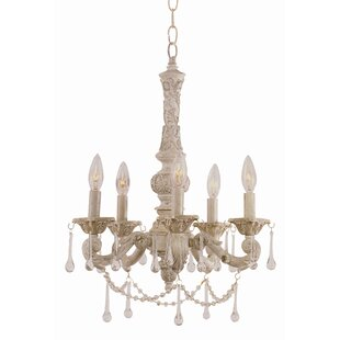 TransGlobe Lighting Crystal Flair 5-Light..