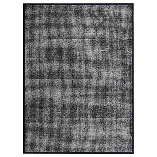 Ry Hand-Tufted Wool Cream Black Area Rug ByLatitude Run