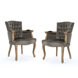 One Allium Way Aguon Upholstered Dining Chair (Set of 2)