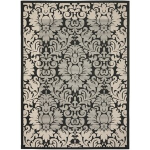Short Black / Sand Outdoor Area Rug