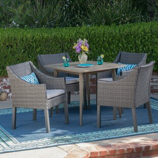 Wrought Studio Dunson 5 Piece Dining Set with Cushions