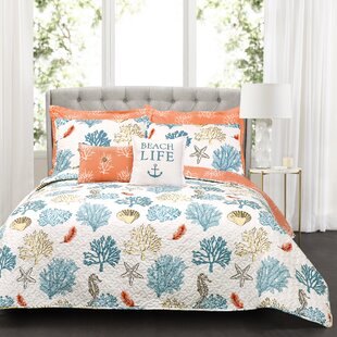 Albury 7 Piece Reversible Quilt Set by Highland Dunes #1