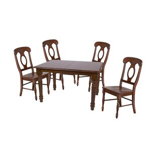 Kenya 5 Piece Extendable Solid Wood Dining Set August Grove