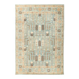 One Of A Kind Fine Ghazni Hand Knotted Blue Area Rug
