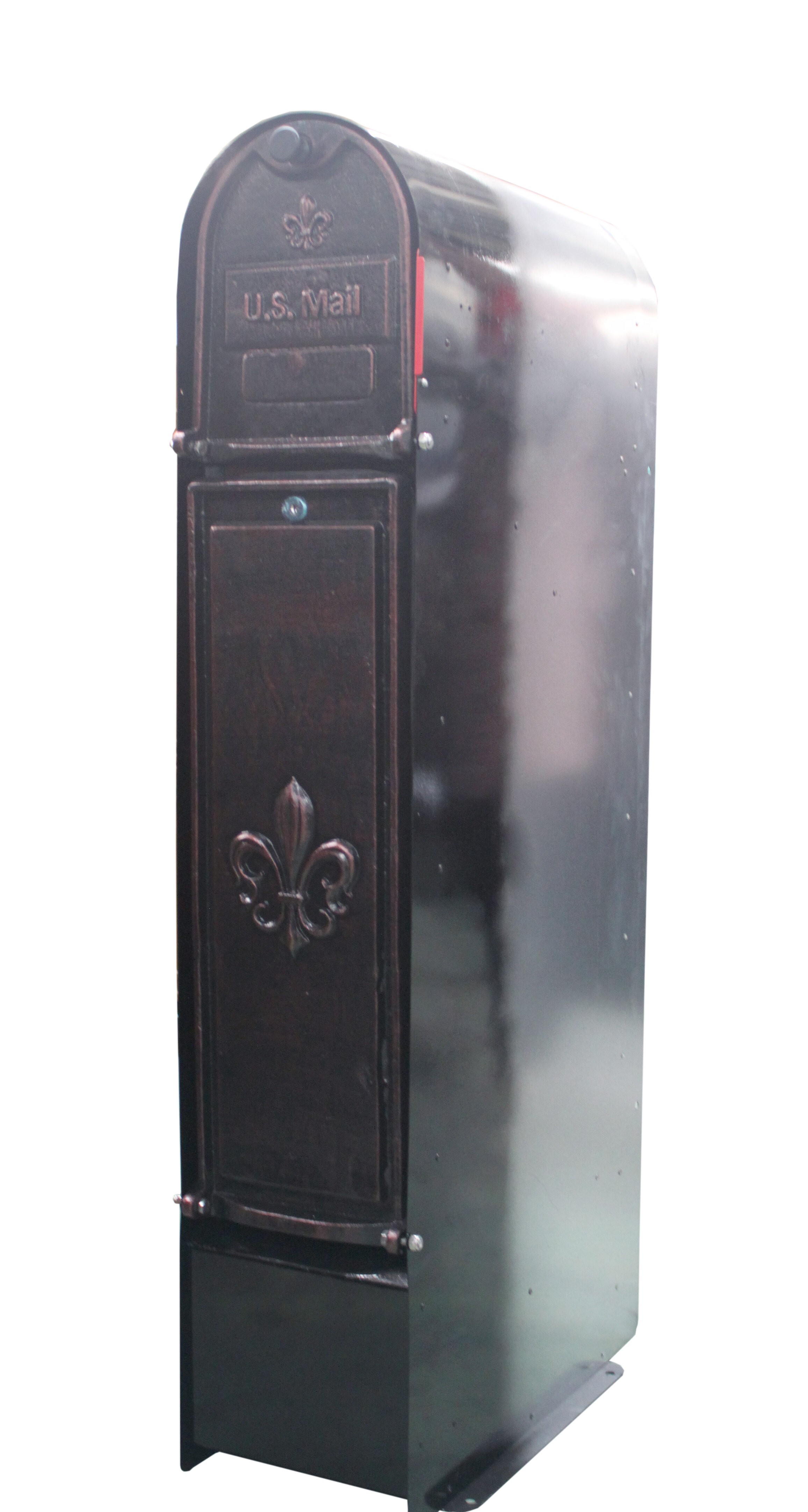 Picture of: Oreproductsllc Fleur De Lis Locking Column Box Wayfair