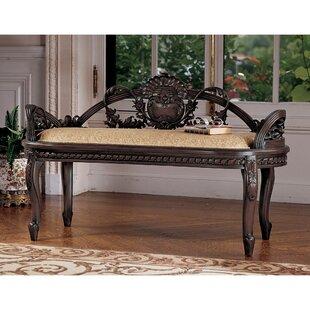 Verona Filigree Mahogany Bench by Design Toscano
