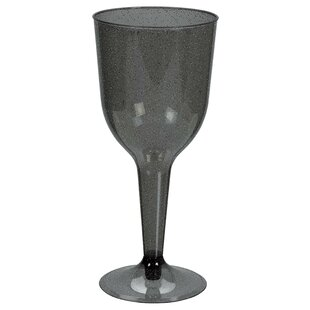 Halloween Glitter Plastic Disposable Wine Glass (Set of 20)