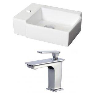 Best Reviews Ceramic 16.25 Bathroom Sink with Faucet ByRoyal Purple Bath Kitchen