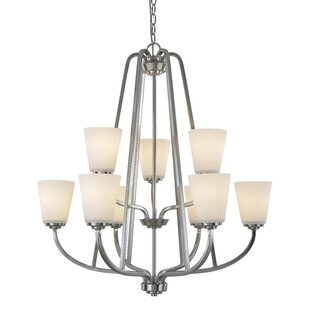 Red Barrel Studio Quarry 9-Light Shaded Chandelier