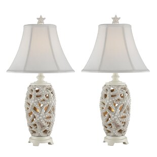 Highland Dunes Malachy Starfish Table Lamp (Set of 2)