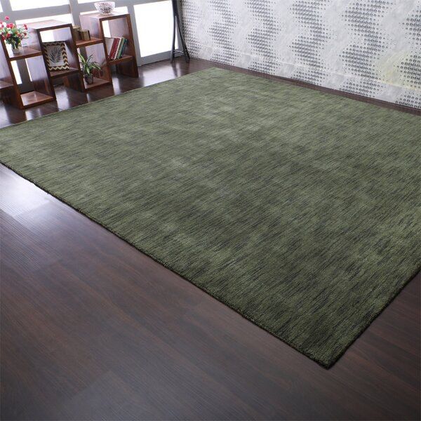 Latitude Run Kenshawn Hand Knotted Wool Black Green Area Rug Reviews Wayfair