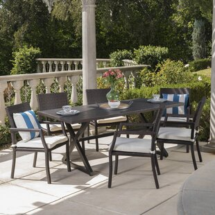 Dolph 7 Piece Dining Set with Cushions