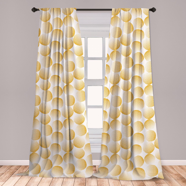 East Urban Home Circle Room Darkening Rod Pocket Curtain Panels Wayfair