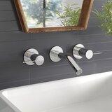 Stillness Widespread Wall-Mount Bathroom Sink Faucet Trim, Requires Valve
