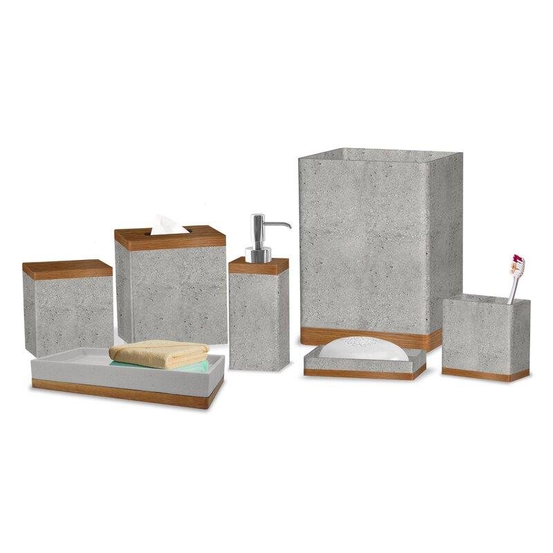 Greyleigh Stonington Concrete Stone 7 Piece Bathroom Accessory Set Reviews Wayfair