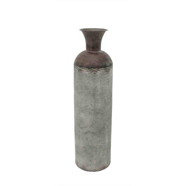 Bloomsbury Market Mebane Cylindrical Bottle Metal Floor Vase Wayfair